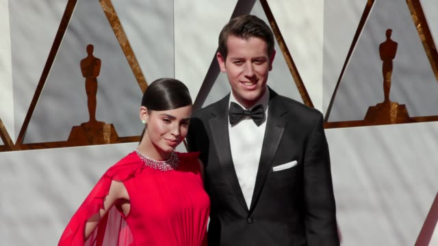Sofia Carson and Ben Lyons at the 90th Academy Awards Arrivals at Dolby Theatre on March 04 2018 in Hollywood California