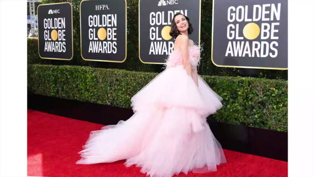 sofia carson attends the 77th annual golden globe awards at the beverly hilton hotel on january 05 2020 in beverly hills california - golden globe awards stock videos & royalty-free footage