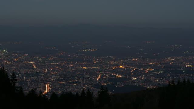 sofia city bei nacht - hd format stock-videos und b-roll-filmmaterial