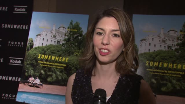 sofia coppola on getting the award at the venice film festival at the 'somewhere' special screening at new york ny - film screening stock videos & royalty-free footage