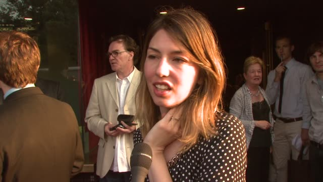 Sofia Coppola on what brings her out tonight that she is here to support her friends and looking for love at the 'Broken English' New York Premiere...