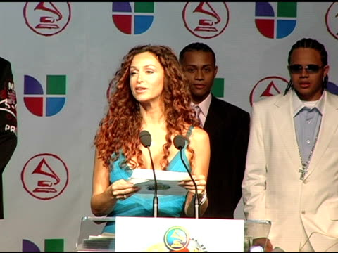 sofia milos announces latin grammy nominees at the 2005 latin grammy awards nominations at the music box theater in hollywood, california on august... - latin grammy awards stock videos & royalty-free footage