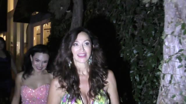 INTERVIEW Sofia Milos talks about MundoFlix her new movie Fake News outside the MundoFlix Party at Sportsmen's Lodge in Studio City in Celebrity...