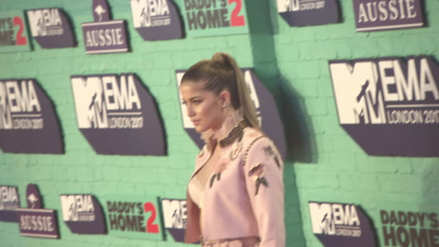 sofia reyes at mtv ema awards at the sse arena wembley on november 12 2017 in london england - wembley arena stock videos & royalty-free footage