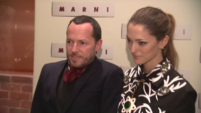 sofia sanchez barrenechea and guest at marni fragrance launch at tbd on february 05 2013 in new york new york - marni stock videos & royalty-free footage