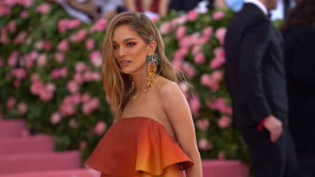 sofia sanchez de betak at the 2019 met gala celebrating camp notes on fashion arrivals at metropolitan museum of art on may 06 2019 in new york city - met gala 2019 stock videos and b-roll footage