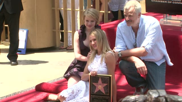 sofia vassilieva cameron diaz and nick cassavetes at the cameron diaz honored with star on the hollywood walk of fame at hollywood ca - walk of fame stock videos & royalty-free footage