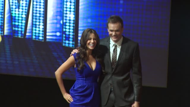 sofia vergara and joel mchale at the 62nd primetime emmy awards nominations announcements at los angeles ca. - emmy awards nominations stock videos & royalty-free footage