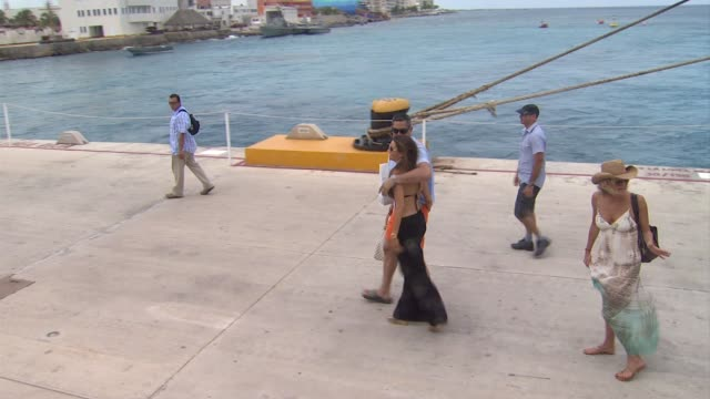sofia vergara and nick loeb celebrate her 40th birthday in cozumel mexico 07/06/12 - cozumel stock videos and b-roll footage
