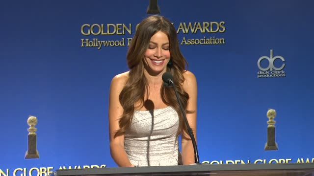 sofia vergara announces the 18th annual screen actors guild awards nominations in west hollywood - nomination stock videos & royalty-free footage
