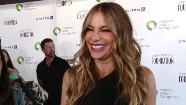 INTERVIEW Sofia Vergara at Screen Actors Guild Foundation Kicks Off 30th Anniversary Honors Sofia Vergara With Actors Inspiration Award At 6th Annual...