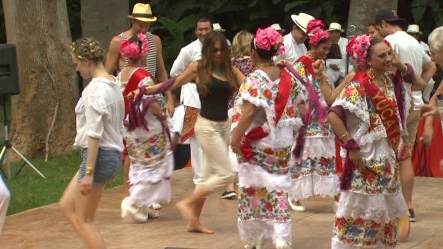 sofia vergara celebrates her 40th birthday in chichen itza mexico 07/06/12 - chichen itza stock videos and b-roll footage