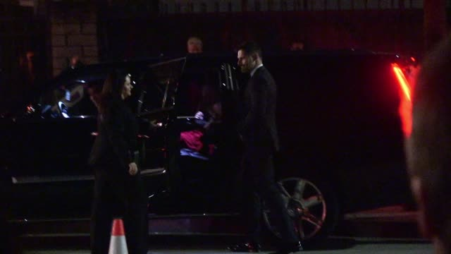 sofia vergara joe manganiello depart the sag awards after party at the shrine auditorium in los angeles celebrity sightings in los angeles ca on - shrine auditorium stock videos and b-roll footage