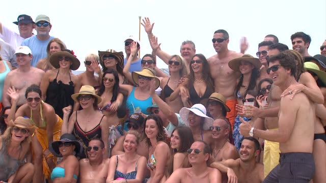 sofia vergara nick loeb family and friends celebrate her 40th birthday in cozumel mexico 07/06/12 - cozumel stock videos and b-roll footage
