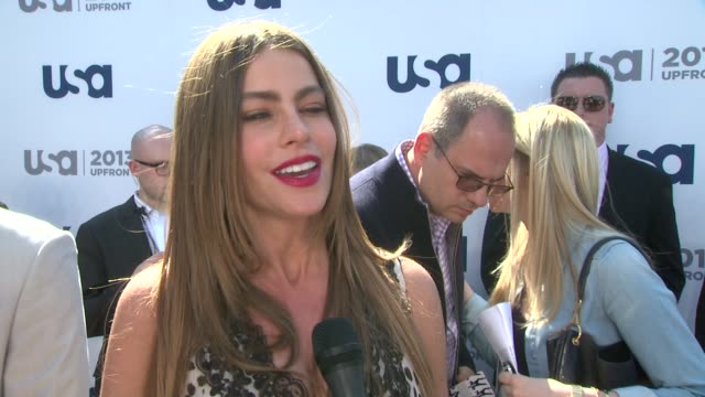 INTERVIEW Sofia Vergara on being part of the USA Network her hit show Modern Family and her vacation in Asia at USA Network 2013 Upfront Event at...