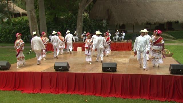 sofia vergara's celebration of her 40th birthday in chichen itza mexico 07/06/12 - chichen itza stock videos and b-roll footage
