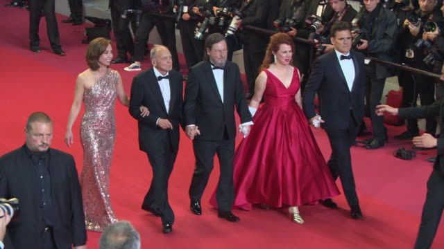 CLEAN Sofie Grabol Bruno Ganz Lars von Trier Siobhan Fallon Hogan Matt Dillon at 'The House That Jack Built' Red Carpet Arrivals The 71st Cannes Film...