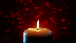 Soft Backgorund Hearts Candle (Loopable) - Stock Video
