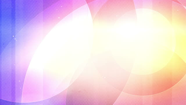 Soft Colourful Circles Background Loop - Pink Rainbow (Full HD)