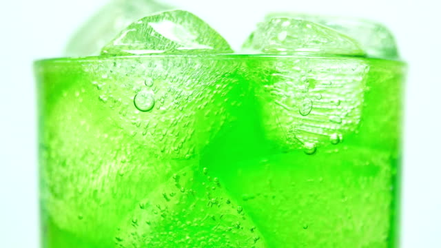 soft drink green drinking glass