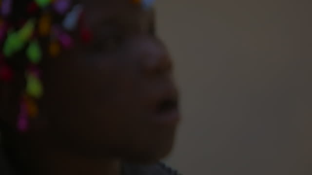 soft focus, close up of handicapped angolan girl - soft focus stock videos & royalty-free footage