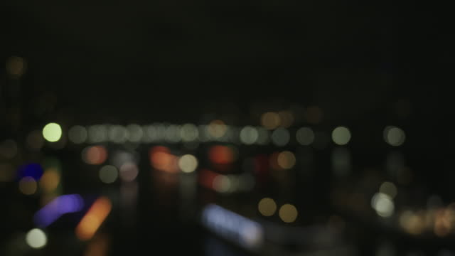 soft focus, illuminated tokyo cityscape at night - soft focus stock videos & royalty-free footage