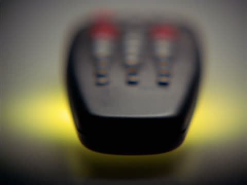 soft focus shot of remote control - soft focus stock videos & royalty-free footage