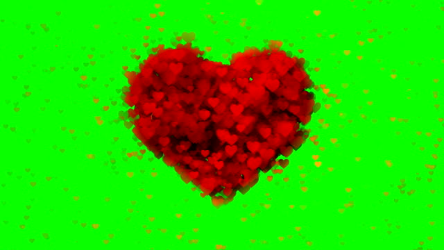 soft heart background green-box (loopable) - talcum powder stock videos and b-roll footage