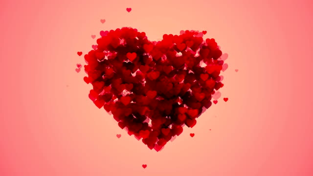 soft heart background (loopable) - valentines background stock videos & royalty-free footage