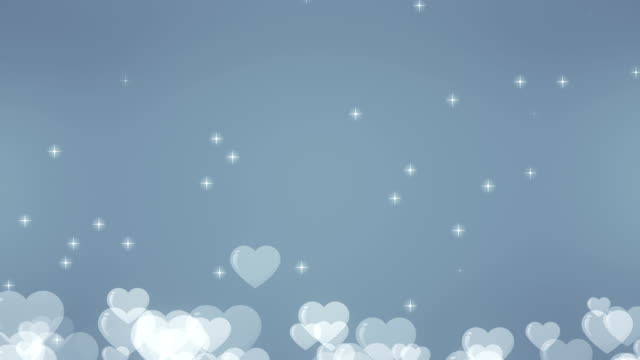 soft heart background (loopable) - silver coloured stock videos & royalty-free footage