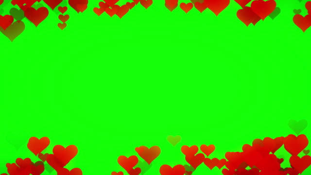 soft heart chroma key  (loopable) - heart stock videos & royalty-free footage