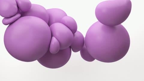 柔軟的粉紅色氣球漂浮在空氣中。概念: 抽象背景, 技術, 党。 - 泡泡 個影片檔及 b 捲影像