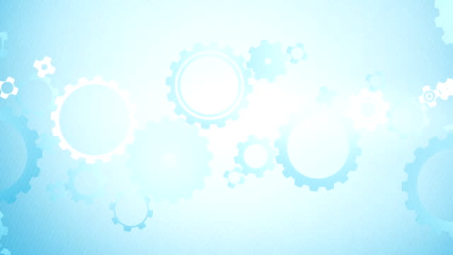 soft simple cogs background loops x3 - blue (full hd) - number 3 stock videos & royalty-free footage