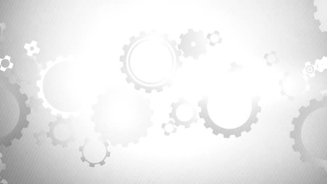 soft simple cogs background loops x3 - grey (full hd) - gray background stock videos & royalty-free footage