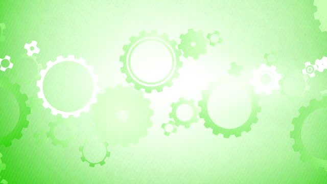 Soft Simple Cogs Background Loops X3 - Rainbow Change