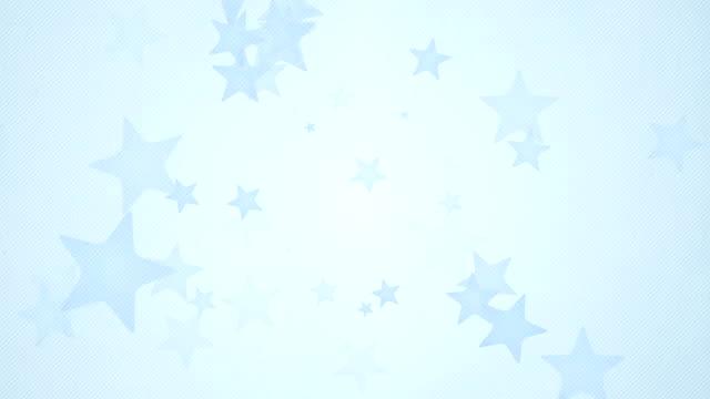 vídeos de stock, filmes e b-roll de loops de música de fundo suave simples estrelas x3-blue (full hd - full hd format