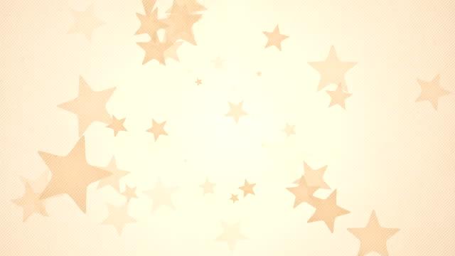 vídeos y material grabado en eventos de stock de suave fondo de estrellas simple bucles x3: naranja (full hd) - fondo naranja