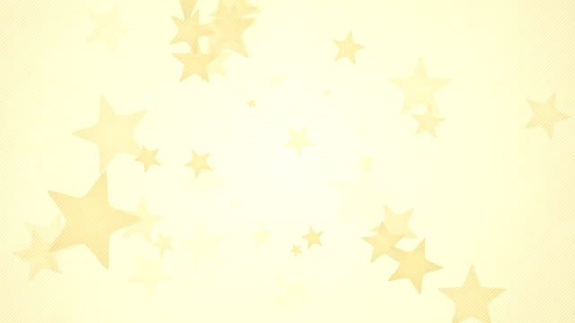 Suave fondo de estrellas Simple bucles x-amarillo (Full HD)