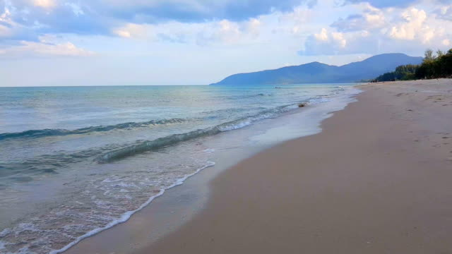 soft wave of blue sea on the sandy beach. background. - grace bay stock videos and b-roll footage