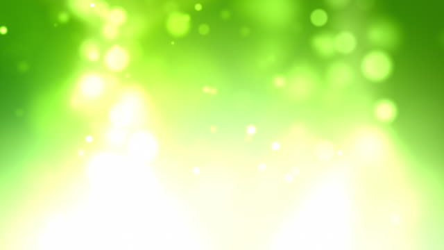 Soft White Floating Particles Background Loop - Green (Full HD)