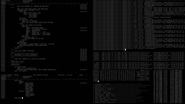 vídeos de stock e filmes b-roll de software developer programming code technology - código binário