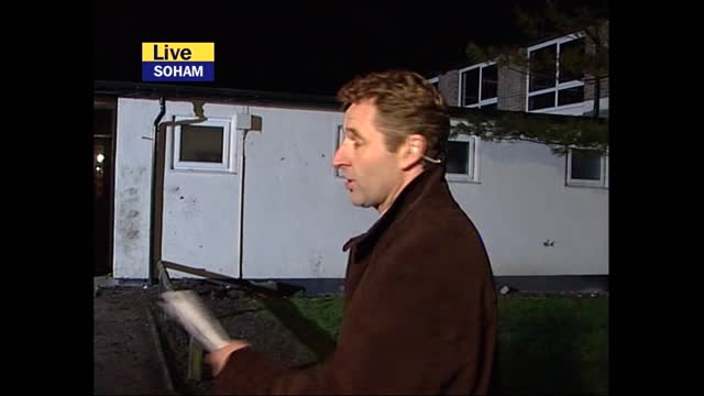 verdict: itv evening news pab; england: london: old bailey: ext / night colin baker live 2-way reporter to camera sot cambridgeshire: soham: mark... - itv evening news stock videos & royalty-free footage