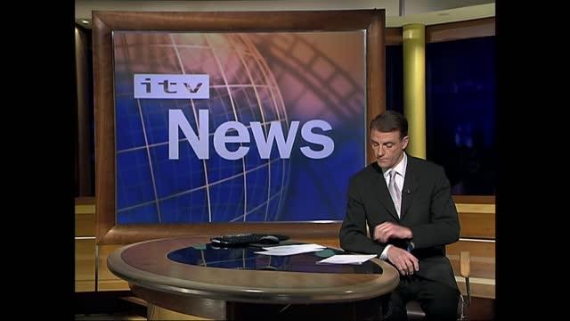 stockvideo's en b-roll-footage met verdict: itv late news pab; england: london: gir: int bill neely i/c sign off - itv late news