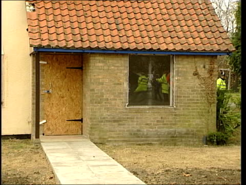 caretaker's house demolished channel 4 news u'lay - channel 4 news stock videos and b-roll footage
