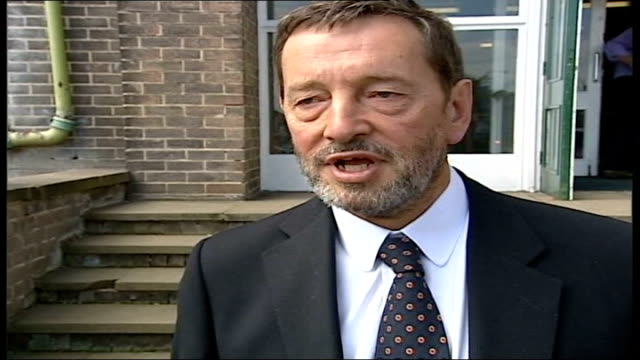 chief constable david westwood suspension row; itn england: ext david blunkett mp interviewed sot - i've reiterated position that i laid out last... - mp stock-videos und b-roll-filmmaterial