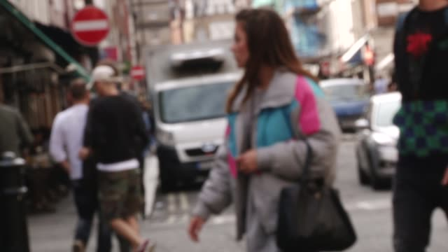 soho london, soft focus at street on october 17, 2011 in london, soho - soft focus stock videos & royalty-free footage