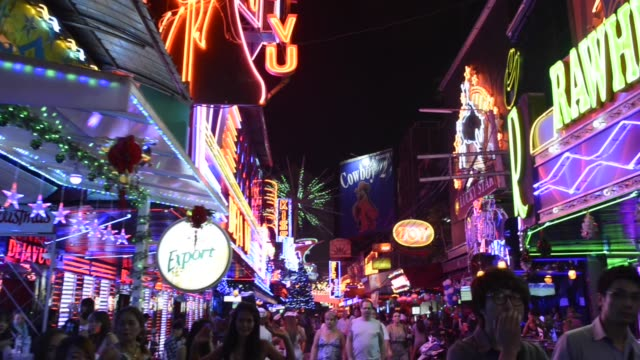 soi cow boy nightlife in bangkok - bangkok stock videos & royalty-free footage