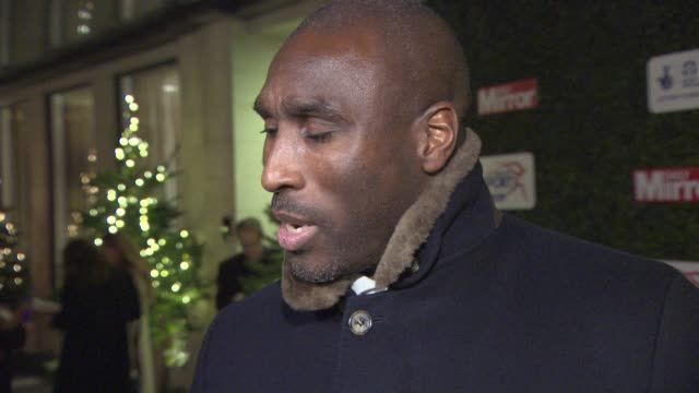stockvideo's en b-roll-footage met interview sol campbell on his future plans roy hodgson and michel platini at daily mirror pride of sport awards at the grosvenor house hotel on... - daily mirror