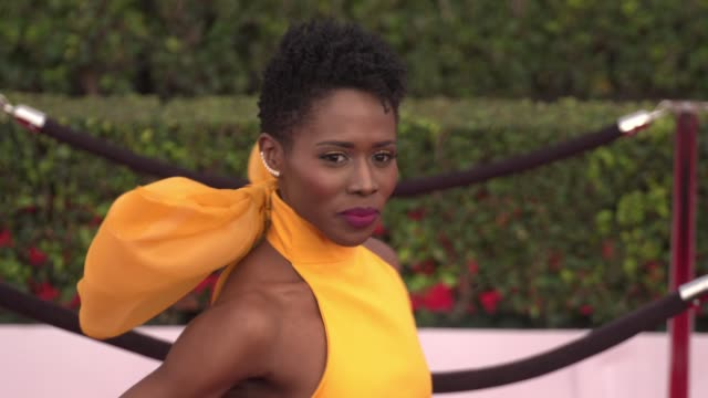 sola bamis at the 22nd annual screen actors guild awards arrivals at the shrine auditorium on january 30 2016 in los angeles california 4k - shrine auditorium stock videos & royalty-free footage