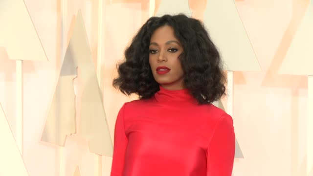 solange knowles at the 87th annual academy awards arrivals at dolby theatre on february 22 2015 in hollywood california - the dolby theatre stock videos & royalty-free footage